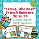 "French Numbers - ""I Have, Who Has?"" Game -  Numbers 1 - 100 Bundle"