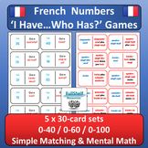 French Numbers Activities I Have Who Has