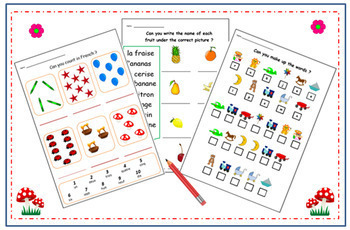 French Numbers & Literacy - Activities for learning French language