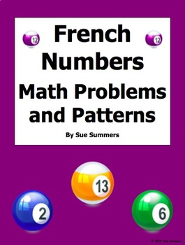 French Numbers - Math Problems, Patterns, and Image IDs
