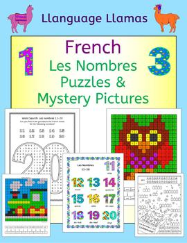 French Numbers Nombres Puzzles and Mystery Pictures