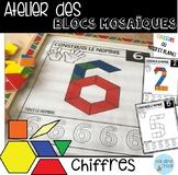 French Numbers Pattern blocs mats/ Atelier Blocs mosaïques