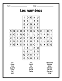 French Numbers Word Search Puzzle - Mots cachés français s