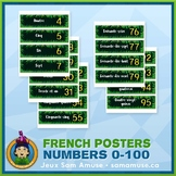 French Numbers 0 to 100 Word Wall • Horizontal 1/4 Page Po