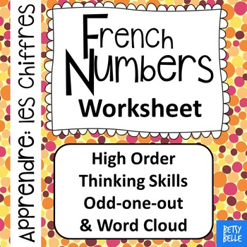 French, Numbers: Worksheet