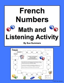 French Numbers and Math Listening Activity