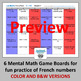 French Numbers 1-100 Games