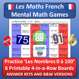 French Numbers (Les Nombres) Math Games