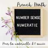 French Numeracy 1-10 (NUMÉRACIE) & Number Sense Activities