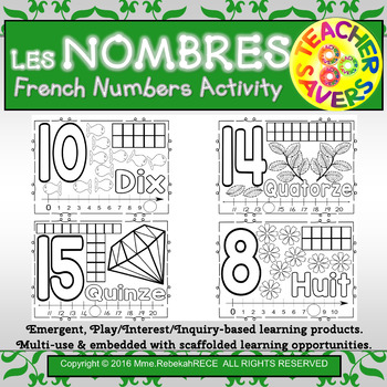 French Numbers Activity Resource.