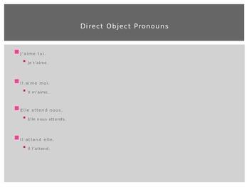 French Object Pronouns