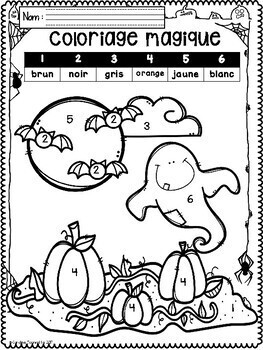 French October-Halloween Worksheets/ Cahier d'activités  octobre-Halloween
