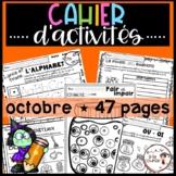 French October-Halloween Worksheets/ Cahier d'activités  octobre-Halloween
