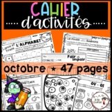 French October-Halloween Worksheets/ Cahier d'activités  o