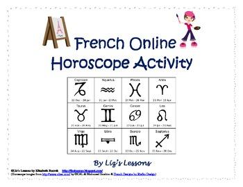 French Online Horoscope Activity