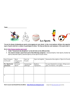 French Online Sports Activity