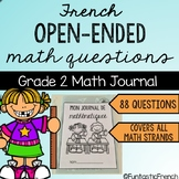 French Open Ended questions Math Journal