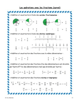 French Math Journal (Open-ended Questions)