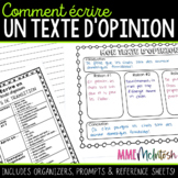 French Opinion Writing/Écrire un texte d'opinion