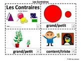 French Opposites 2 Emergent Reader Booklets