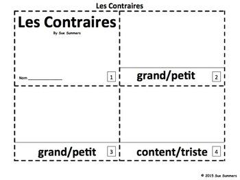 French Opposites 2 Emergent Reader Booklets