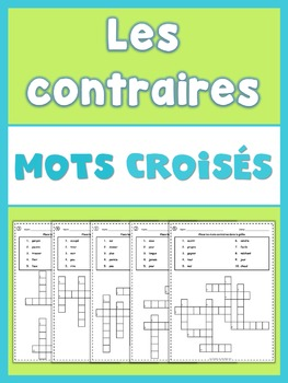French Opposites  Crossword Puzzles