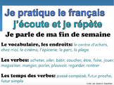 French Oral Practice-Une pratique orale: les fins de semaine