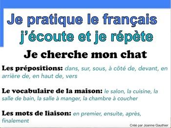 French Oral Practice-Une pratique orale: les prépositions de lieu