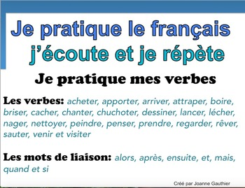 French Oral Practice-Une pratique orale: les verbes dans leur contexte