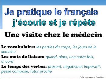 French Oral Practice-Une pratique orale: une visite chez le médecin