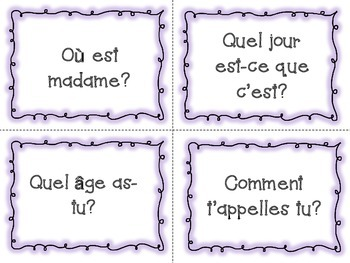 French Discussion Starters and Prompts for Oral Activity