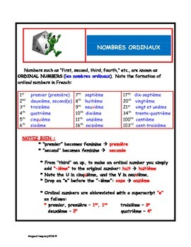 French Ordinal Numbers