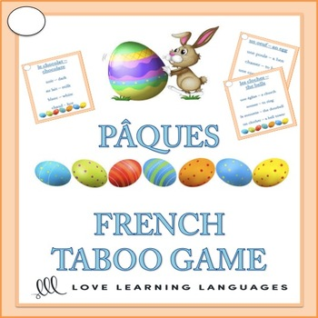 French PÂQUES Taboo Game - Easter