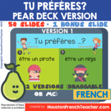 French PEAR DECK(PEARDECK) Google Slides - Would you rathe
