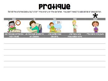 French PLUS-QUE-PARFAIT bundle: PQP explanation, homework, PowerPoint