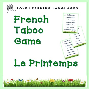 French PRINTEMPS Taboo Game - Spring
