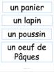 French: Pâques: Activités/vocab/lecture/évaluation/bricolage