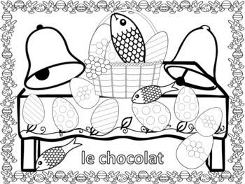 French: Pâques Coloriage