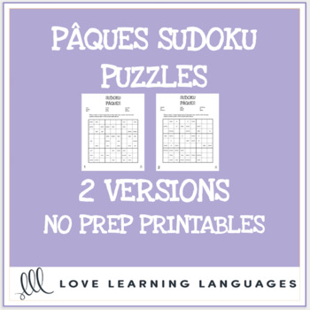 French Pâques sudoku games - French Easter