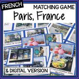 French – Paris, France – un jeu des paires – a matching game