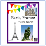 French - Paris, France - word search