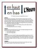 French Time Partner Activities (Speak, Read, Listen, Write)