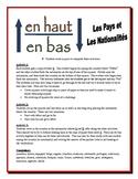 French Nationalities Partner Activities  (Speak, Read, Listen, Read)