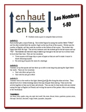 French Numbers 1-50 Partner Activities (Speak, Listen, Write, Read)
