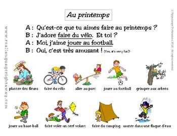 French Partner Conversation: Au printemps (Springtime Activities)