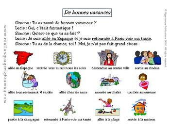 French Partner Conversation : De bonnes vacances (passé composé with être)