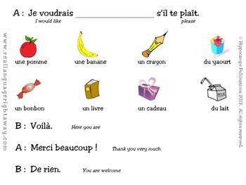 French Partner Conversation - Je voudrais...