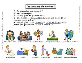 French Partner Conversation: Le week-end (passé composé with être and avoir)
