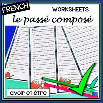(French) Passé Composé - Past Tense Worksheets