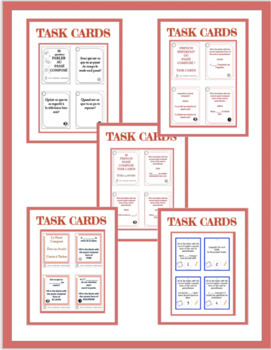 French passé composé games, speaking activities, and exercises - Bundled
